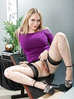 Office Stockings Pics
